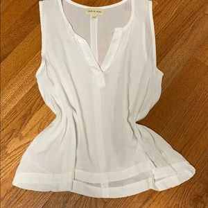 Anthropologie Cloth & Stone Cream V-neck XS